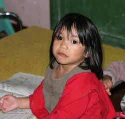 A young girl in the Philippines who is sponsored and under the care of Global Worker, Linda Veldhuizen