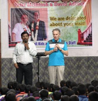David Adcock visiting Prem Sewa Boys Home in India