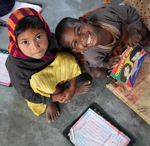 Bangladesh - children get a chance to learn because of ChildCARE Plus