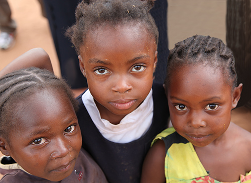 A group of girls from Haiti