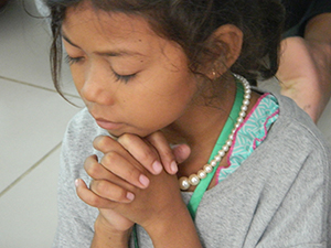 One of the camp sessions spoke about how their prayers are valuable to God