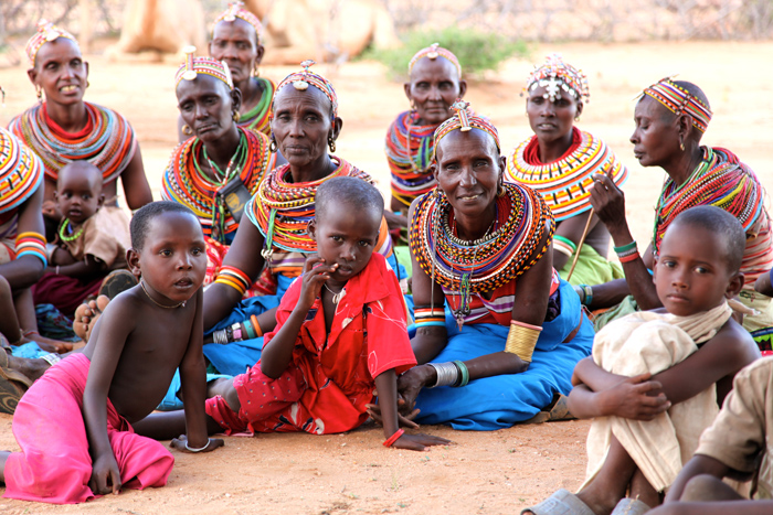 Families in Kenya - part of the area affected by the West Africa Crisis
