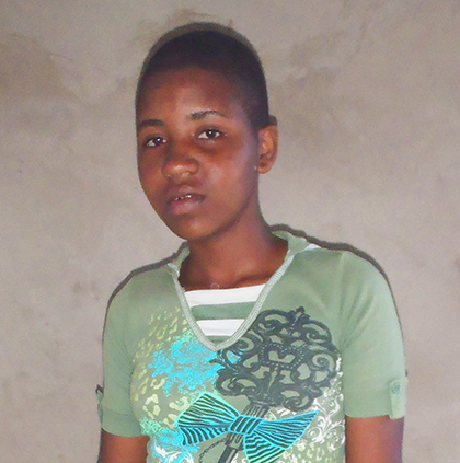 Irine - a child who is waiting for a sponsor