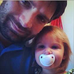 Johnny Crank, Portico's youth pastor, with his youngest daughter