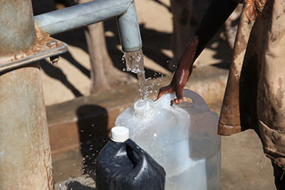Clean water from a new water pump