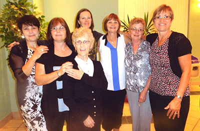 Some of the Linhaven Staff & Friends - Left to Right - Marta, JAckie, Tammy, Isabel, Theresa and Debbie - Front - Ina