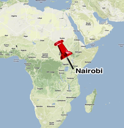 Map of Africa - Nairobi, Kenya