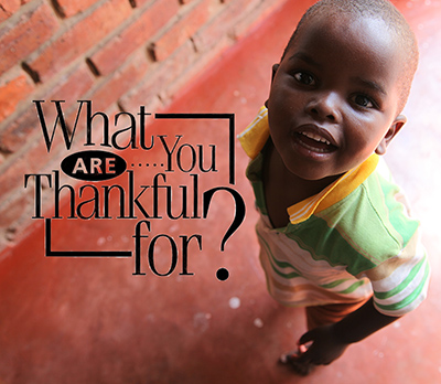 Child Photo with a question - What are you thankful for?