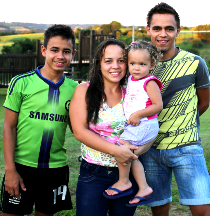 three siblings in brazil