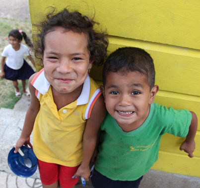Beautiful smiles from children in ChildCARE Plus
