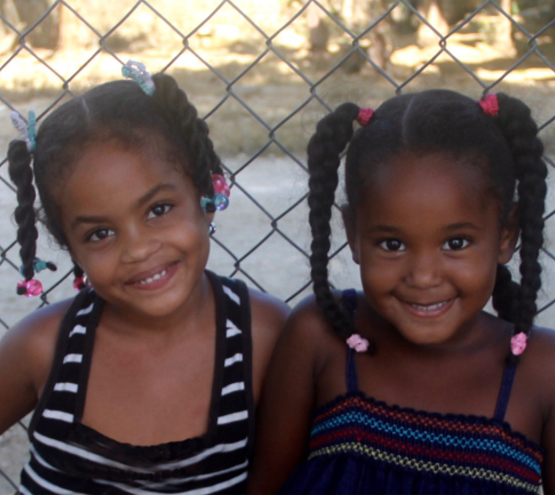 two little girls in Dominican Republic