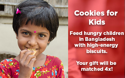 give cookies to hungry children