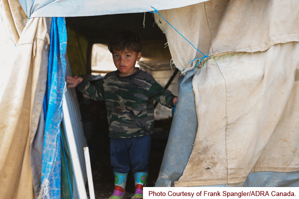 little boy displaced in mosul
