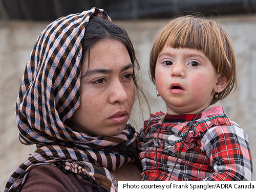mother and child in mosul