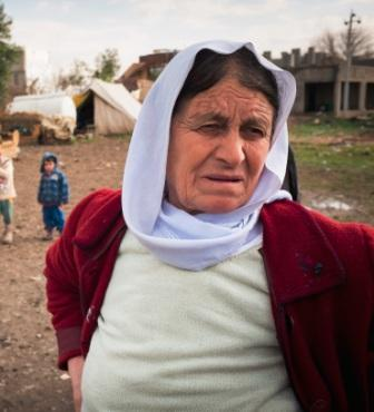 Displaced woman in Northern Iraq