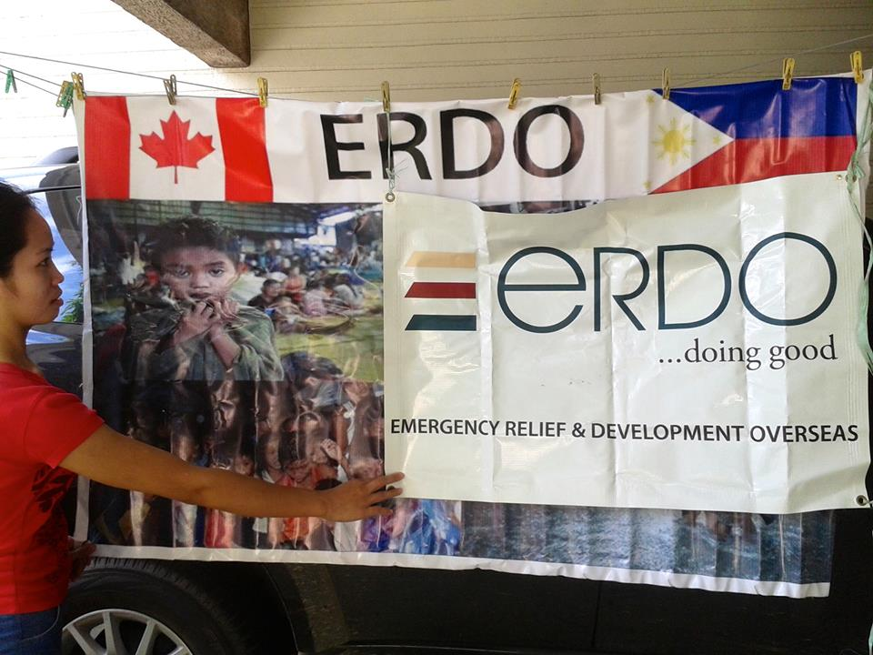 ERDO Crisis Response sign in the Philippines
