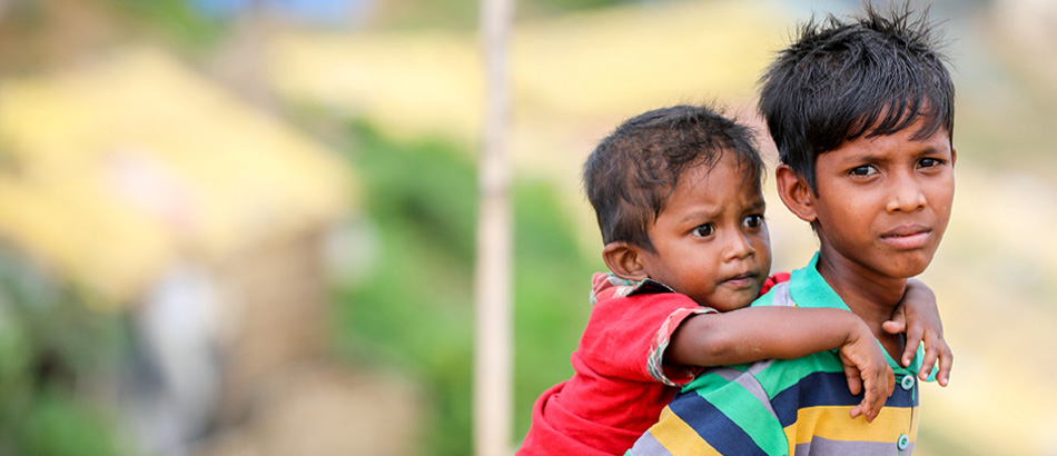 brothers in rohingya camp
