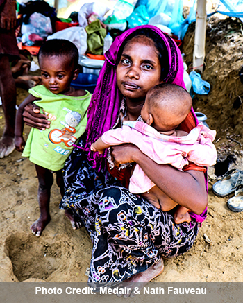 rohingya mom and two kids