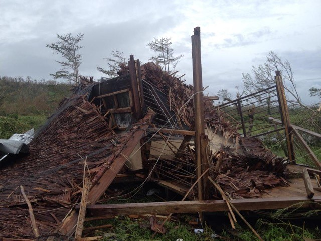 Cyclone Pam destruction in Vanuatu