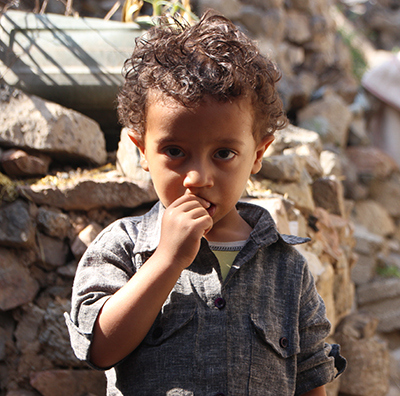 little boy in yemen