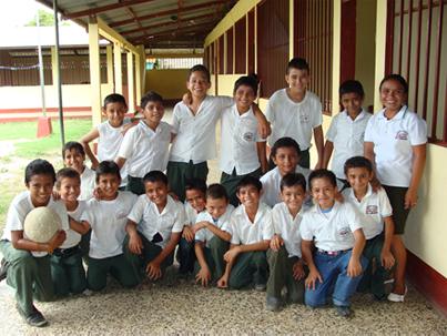 Group of sponsored children from Guatemala