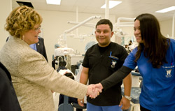 Minister Ablonczy meets students at the WCVTC studying dental hygiene