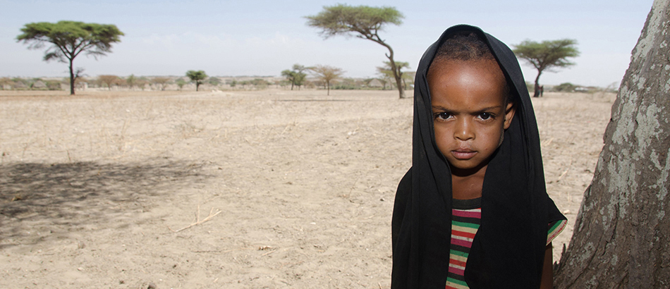Lome - a 4 year old daughter of an Ethiopian farmer