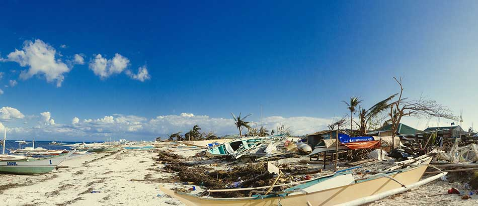Philippines - Haiyan Damage on the Beach