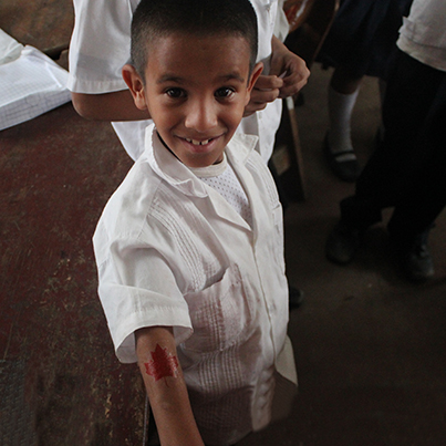 Jason - a child from the in-school feeding program in Honduras