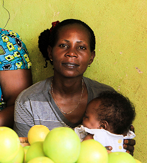 Mother in Wezesha project with child