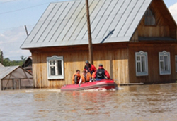 Rescue workers in Altai region in Russia photo credit - EMERCOM of Russia