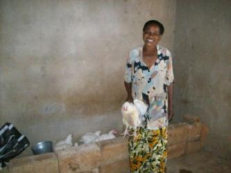 A beneficiary in the Hearts of Compassion program
