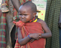 A child from the Lokwatubwa Nursery School in Kenya