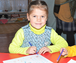 A child in the ChildCARE Plus program in Ukraine