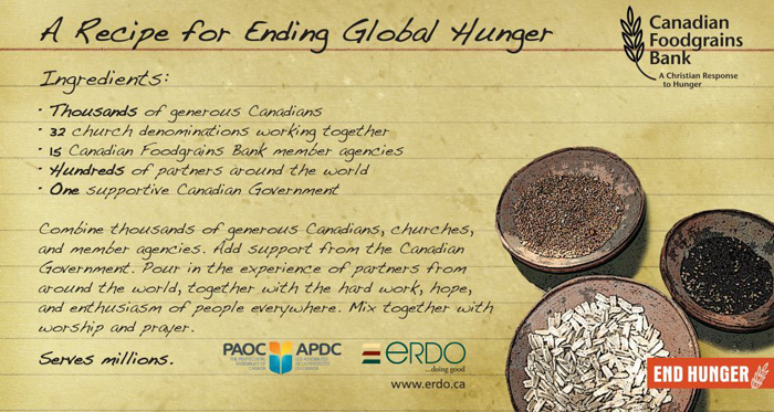 Recipe for Ending Global Hunger Card