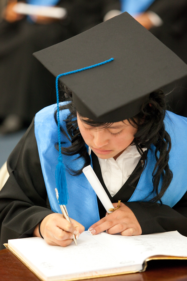 One of the first graduates of the WCVTC in Guatemala