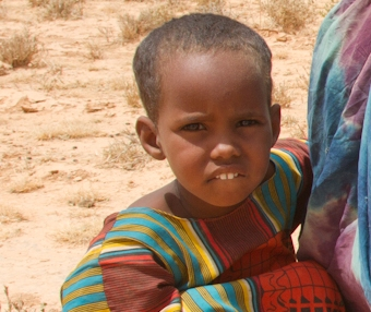 ERDO child receiving assistance in Ethiopia